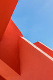 Abstract geometry of orange rugger bending Stock Photo