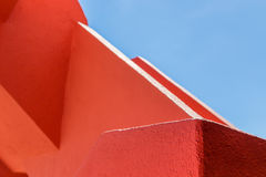Abstract geometry of orange rugger bending Royalty Free Stock Image