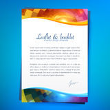 Abstract geometry pattern, leaflet template Royalty Free Stock Photography