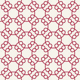 Abstract geometry red chain ornament deco art pattern Royalty Free Stock Images