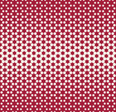 Abstract geometry red fashion halftone dots pattern Stock Photography