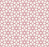 Abstract geometry red floral ornament deco art pattern Royalty Free Stock Photography