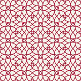 Abstract geometry red ornament deco art pattern Royalty Free Stock Images
