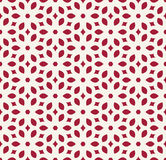 Abstract geometry red ornament deco art pattern Royalty Free Stock Photography