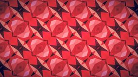 Abstract Geometry red wallpaper. Royalty Free Stock Photo