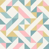 Abstract geometry in retro colors, diamond shapes geo pattern. Abstract geometric diamond shapes geo print. Seamless vector pattern. Mint, blush pink, mustard royalty free illustration