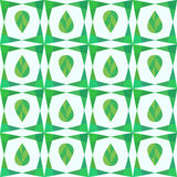 Abstract geometry seamless pattern with leaves. Stock Photos