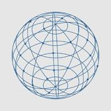 Abstract geometry shape. Wire frame style design. Platonic solid design. Connected lines with dots Royalty Free Stock Photography