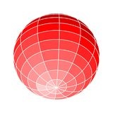 Abstract geometry shape. Wire frame style design. Platonic solid design. Earth globe Royalty Free Stock Photo