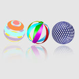 Abstract geometry spheres. Absrtact spheres 3D elements. Perfect as design elements and logos Stock Photo