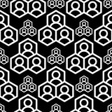 Abstract geometry square seamless pattern black geometric graphic texture background vector illustration wallpaper Stock Images