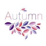 Abstract geometry style vector autumn illustration. purple and v Stock Images