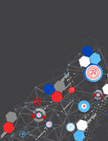 Abstract geometry technology background. Royalty Free Stock Photography