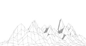 Abstract terrain sketch,Illustration. Abstract geometry terrain sketch , Illustration vector illustration