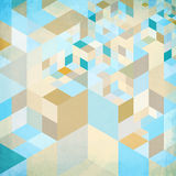 Abstract geometry vector blue background Stock Images