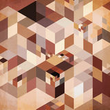 Abstract geometry vector brown background Royalty Free Stock Photo