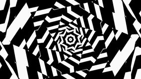 Abstract Geometry with visual illusion of movement stock video