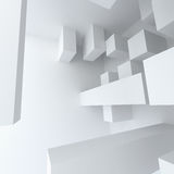 Abstract geometry white building construction Stock Images