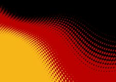 Abstract German Flag backdrop. The German Flag turned into abstract wavy graphic pattern vector illustration
