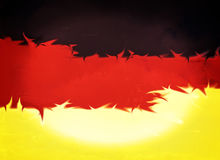 Abstract german flag design, copyspace Royalty Free Stock Photo