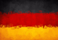 Abstract German flag polygon Stock Photo