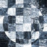 Abstract geruit die patroon met acryl of olieverven op canvas in zwart-witte kleuren wordt geschilderd Stock Afbeeldingen
