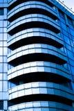 Abstract gewas van blauwe ambtenaar balconys Stock Afbeelding