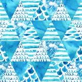 Abstract geweven driehoeken naadloos patroon Royalty-vrije Stock Afbeelding