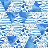 Abstract geweven driehoeken naadloos patroon Stock Foto