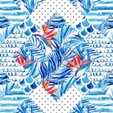 Abstract geweven geometrisch naadloos patroon Stock Foto's