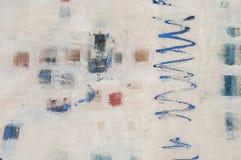 Abstract geweven hand geschilderd canvas Royalty-vrije Stock Afbeelding