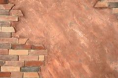 Abstract geweven kader met bakstenen muur en ruimte voor tekst Royalty-vrije Stock Afbeeldingen