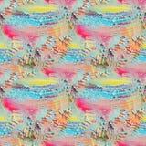 Abstract geweven naadloos patroon Het schilderen op canvas De achtergrond van de textuur Stock Afbeelding