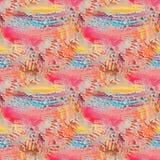Abstract geweven naadloos patroon Het schilderen op canvas De achtergrond van de textuur Royalty-vrije Stock Foto's