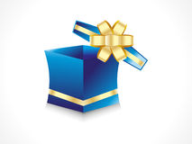 Abstract gift box with golden ribbon Royalty Free Stock Photos