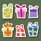 Abstract gift sticker set Royalty Free Stock Photography