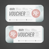 Abstract gift voucher or coupon design template. Voucher design, Stock Image