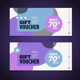 Abstract gift voucher or coupon design template. Voucher design, Stock Images
