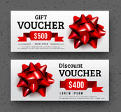 Abstract gift voucher design template. Stock Photos