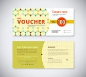 Abstract gift voucher template card. business voucher card templ Stock Image