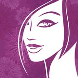 Abstract girl portrait. Beautiful woman vector Stock Image