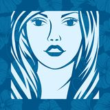 Abstract girl portrait. Beautiful woman vector Stock Images