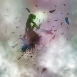 Abstract girl and raven Royalty Free Stock Photo