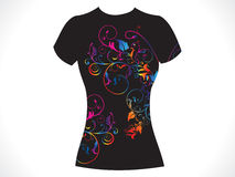 Abstract girl tshirt floral design. Illustration Royalty Free Stock Photo