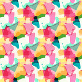 Abstract girlish background. Geometric seamless pattern for girls and boys. Royalty Free Stock Photography