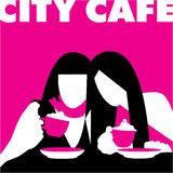 Abstract-girls-in-cafe Royalty Free Stock Image