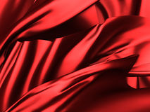 Abstract glamour red silk cloth smooth folds background. 3d render illustration vector illustration