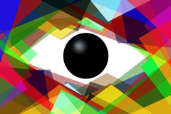 Abstract glance. Illustration to subjects of the fantasies with scene of the abstract eye Royalty Free Stock Photography