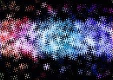 Abstract glanzend blauw rood roze kleuren bokeh behang Royalty-vrije Stock Foto