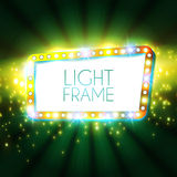Abstract glanzend frame Retro Lichte Banner Vector Royalty-vrije Stock Foto